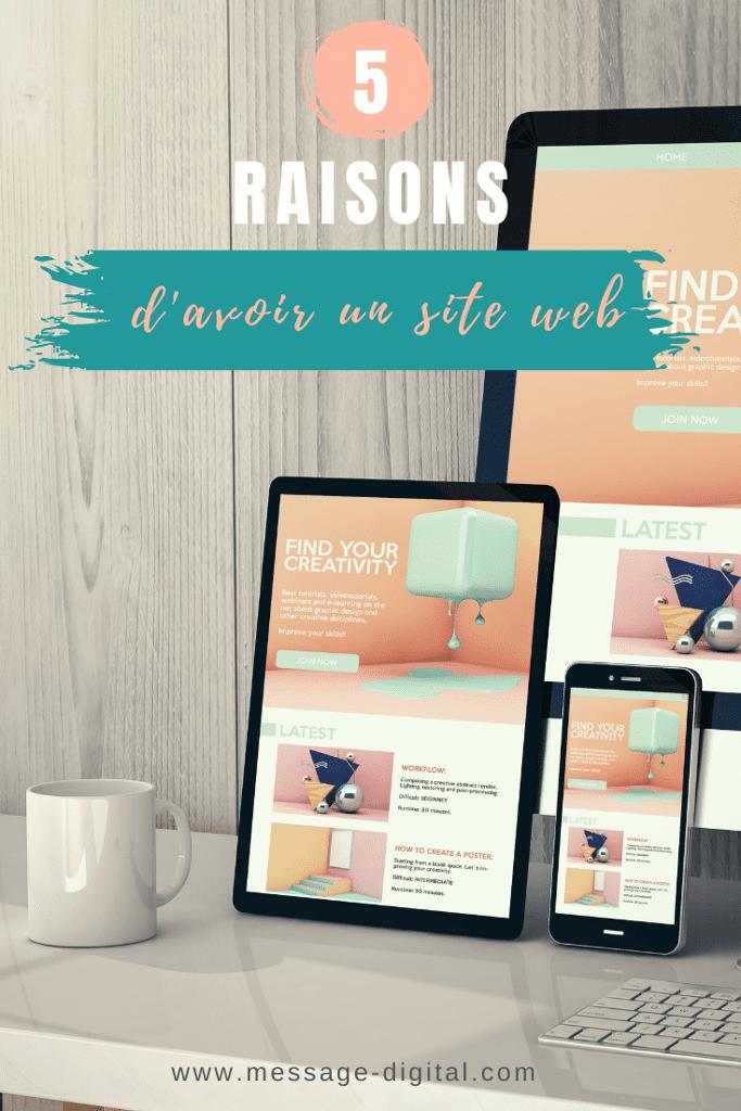 5 raisons d'avoir un site web
